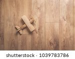 wooden retro airplane model... | Shutterstock . vector #1039783786