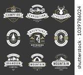 camping logos templates vector... | Shutterstock .eps vector #1039786024