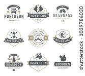 camping logos templates vector... | Shutterstock .eps vector #1039786030