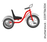 a tricycle for a child on a... | Shutterstock .eps vector #1039786504