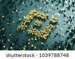 binance coin symbol. 3d... | Shutterstock . vector #1039788748