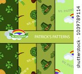 clover leaf hand drawn doodle...   Shutterstock .eps vector #1039789114
