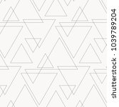 linear triangle vector pattern... | Shutterstock .eps vector #1039789204
