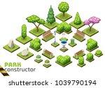 isometric park constructor. set ...   Shutterstock .eps vector #1039790194
