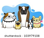 adorable,animal,artistic,background,big,blue,boxer dog,breed,brown,bulldogs,cartoon,character,comic,cute,dachshund