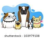 Dog All Breed Bulldog Pug...