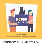refer and earn vector... | Shutterstock .eps vector #1039796173