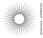 black radial  radiating lines... | Shutterstock .eps vector #1039802236