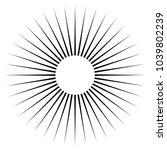 black radial  radiating lines... | Shutterstock .eps vector #1039802239