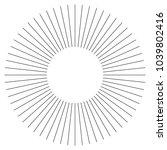 black radial  radiating lines... | Shutterstock .eps vector #1039802416
