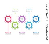 infographic template with...   Shutterstock .eps vector #1039805194