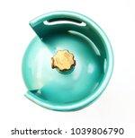 top view of green lpg cooking... | Shutterstock . vector #1039806790