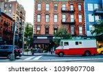 vintage building exterior in... | Shutterstock . vector #1039807708