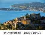 the village of eze    ze   the... | Shutterstock . vector #1039810429