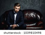 handsome man wearing classical... | Shutterstock . vector #1039810498