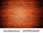 old red bricks wall | Shutterstock . vector #1039810669