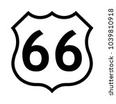 us route 66 sign  black and...   Shutterstock .eps vector #1039810918
