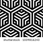 vector geometric pattern.... | Shutterstock .eps vector #1039816243