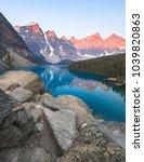 moraine lake  banff national... | Shutterstock . vector #1039820863