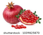 fresh pomegranate isolated on... | Shutterstock . vector #1039825870