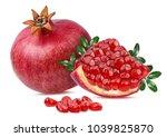 fresh pomegranate isolated on... | Shutterstock . vector #1039825870