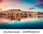 fantastic spring seascape on... | Shutterstock . vector #1039826014