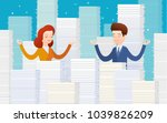 concept of workload.... | Shutterstock .eps vector #1039826209