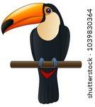 happy cute cartoon toucan.... | Shutterstock .eps vector #1039830364