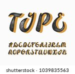 hand written style scratched... | Shutterstock .eps vector #1039835563