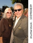 Small photo of Mike Connors and wife Mary Lou Willey at the Hollywood Walk of Fame induction ceremony for Peter Graves, Hollywood, CA. 10-30-09
