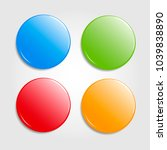 set of round colorfull web... | Shutterstock .eps vector #1039838890