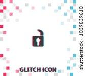 unlock  glitch effect vector...   Shutterstock .eps vector #1039839610