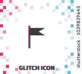 flag  glitch effect vector icon....