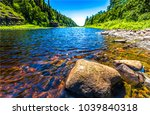 forest river water summer... | Shutterstock . vector #1039840318