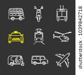 public transport chalk icons... | Shutterstock .eps vector #1039842718