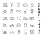 public transport linear icons... | Shutterstock .eps vector #1039842730