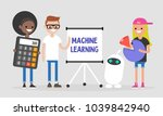 machine learning technologies.... | Shutterstock .eps vector #1039842940