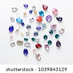 colorful precious stones for... | Shutterstock . vector #1039843129