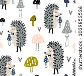 seamless childish pattern with... | Shutterstock .eps vector #1039853536