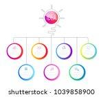 infographics design with speech ... | Shutterstock .eps vector #1039858900