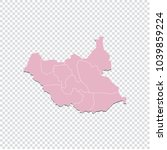 south sudan map   high detailed ... | Shutterstock .eps vector #1039859224