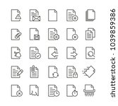 document related icons  thin... | Shutterstock .eps vector #1039859386