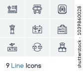 airport icon set and military...