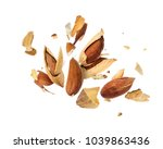 almonds is torn to pieces... | Shutterstock . vector #1039863436