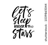 let's sleep under the stars... | Shutterstock .eps vector #1039865044