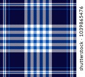 plaid check pattern in navy ... | Shutterstock .eps vector #1039865476