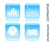 glassy business graph icons....