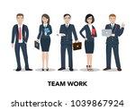 business people teamwork.... | Shutterstock .eps vector #1039867924