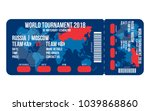 football ticket for entrance to ... | Shutterstock .eps vector #1039868860