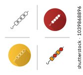 shish kebab icon. flat design ... | Shutterstock .eps vector #1039868896